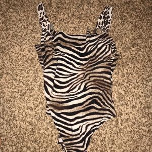 Gottex animal print one piece bathing suit Size 14